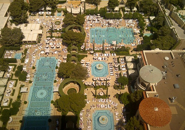the pools at the Bellagio