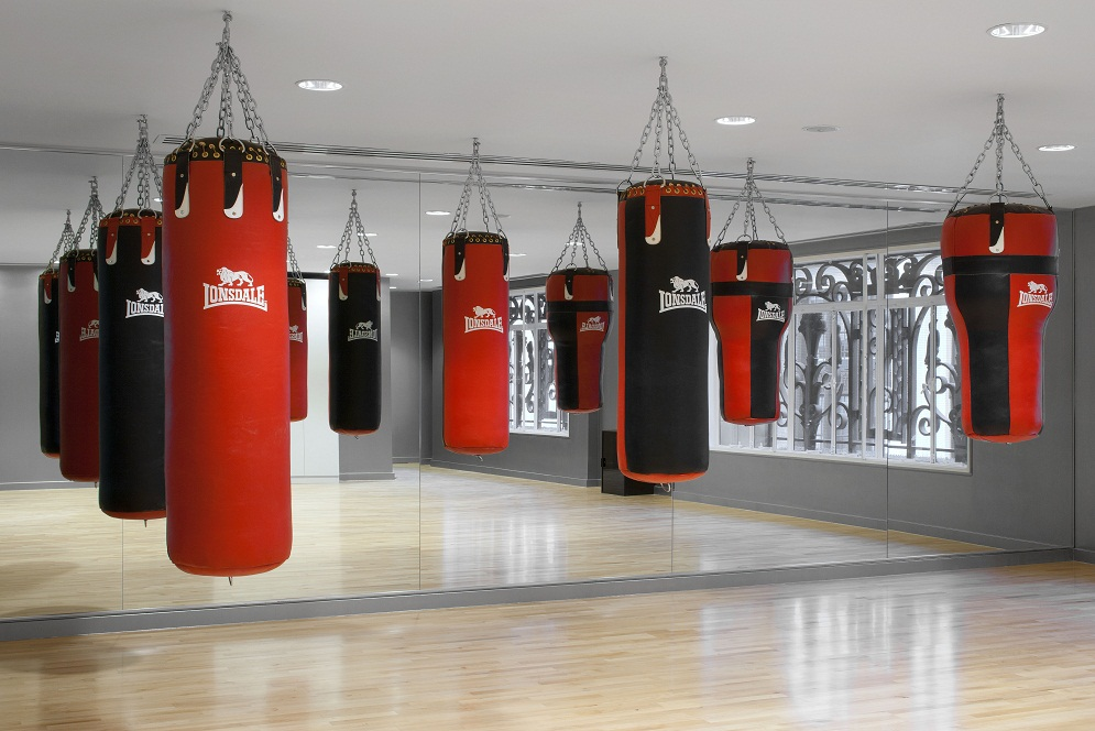 boxing studio at equinox gym london