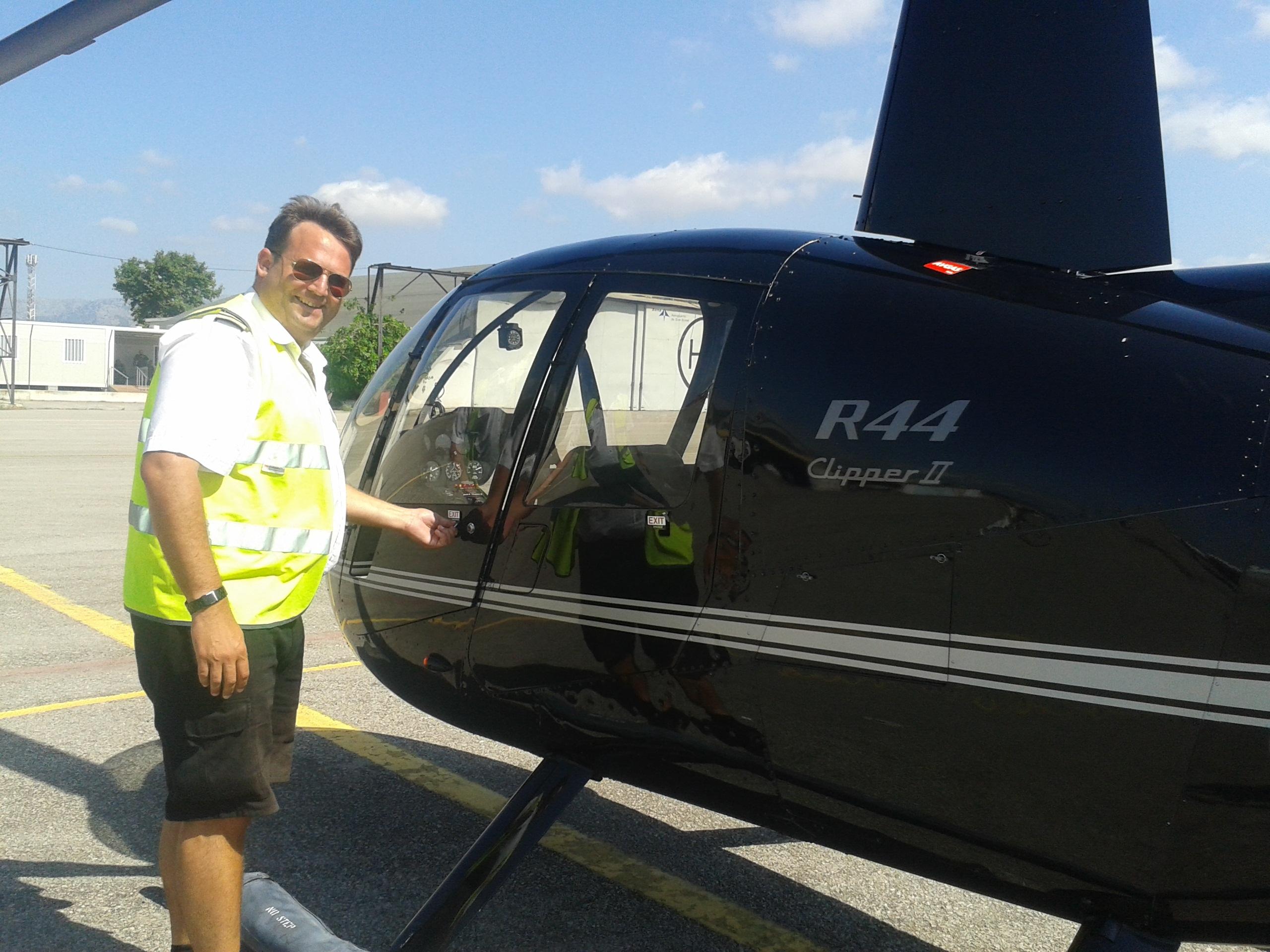 Jonny, my pilot for the morning