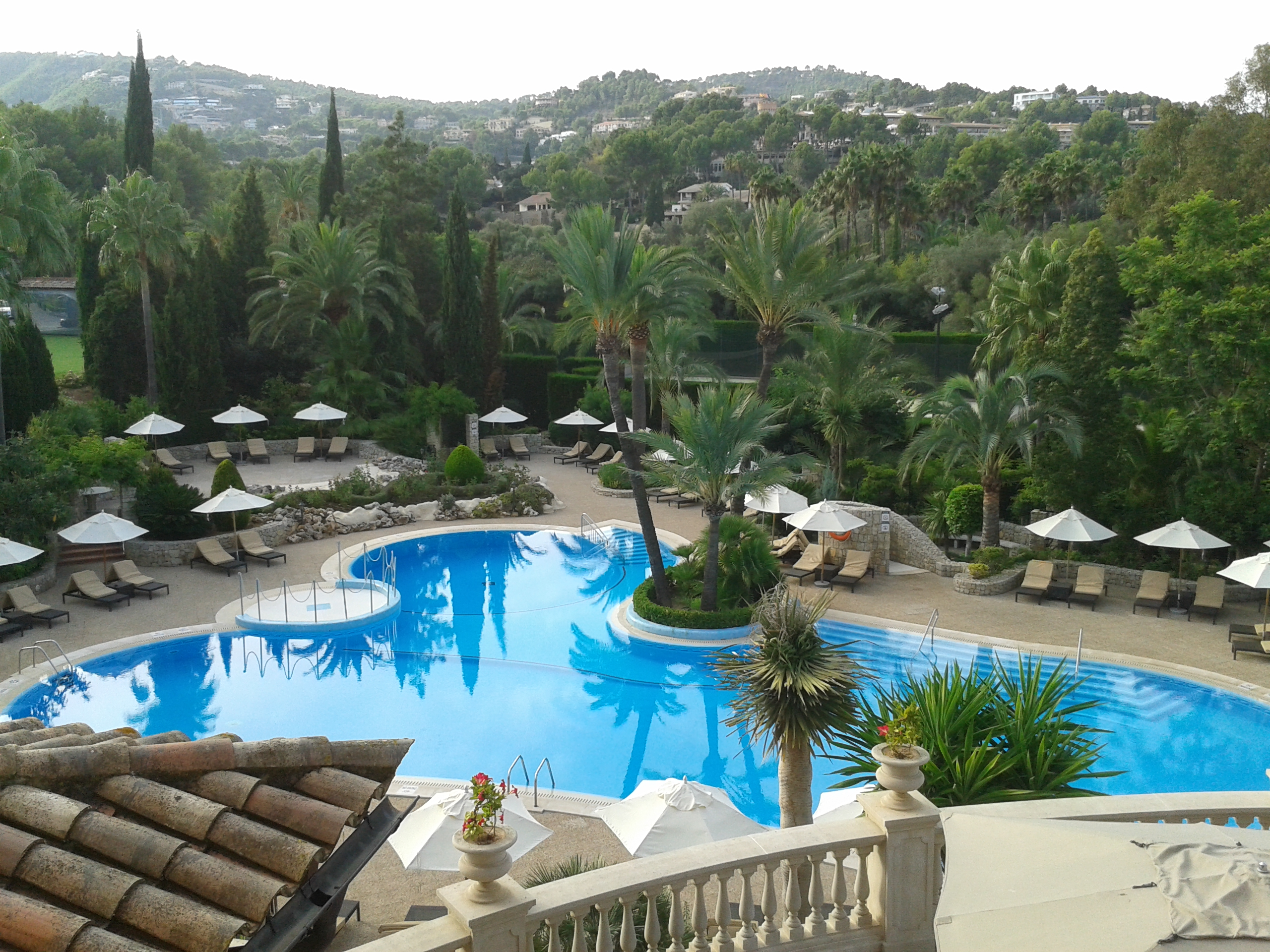 The view from my window at the Sheraton Golf Arabella resort, just 10 minutes drive from Palma