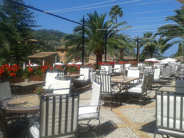 The breakfast terrace - it's unsurprising that I didn't want to leave the next day