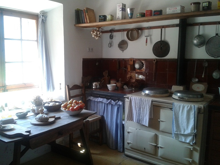 And his kitchen, preserved from decades ago