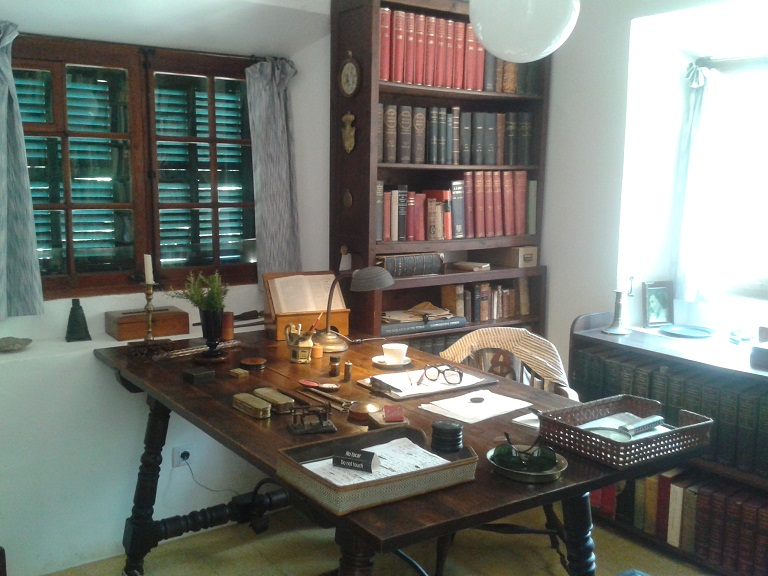 His writing desk...