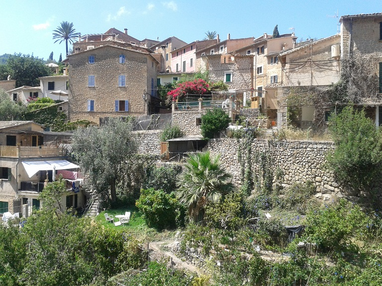 The winding streets of Deia
