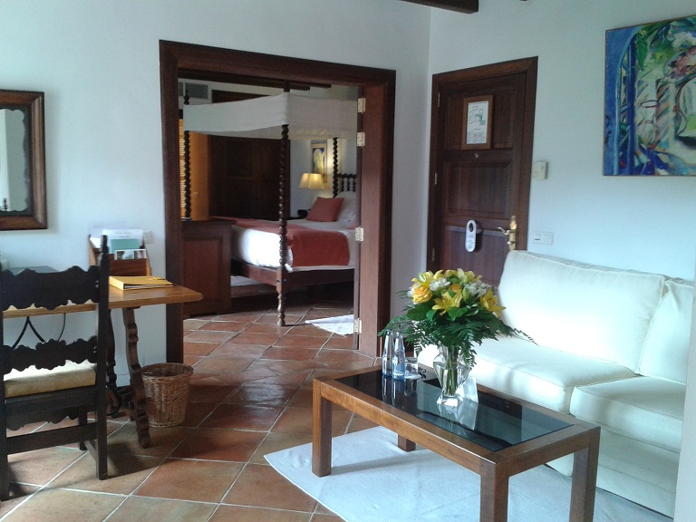 My room at La Residencia - I had to be practically dragged out of it when it came to leaving