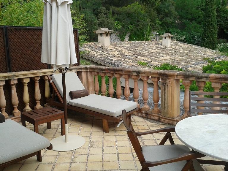 My private terrace...