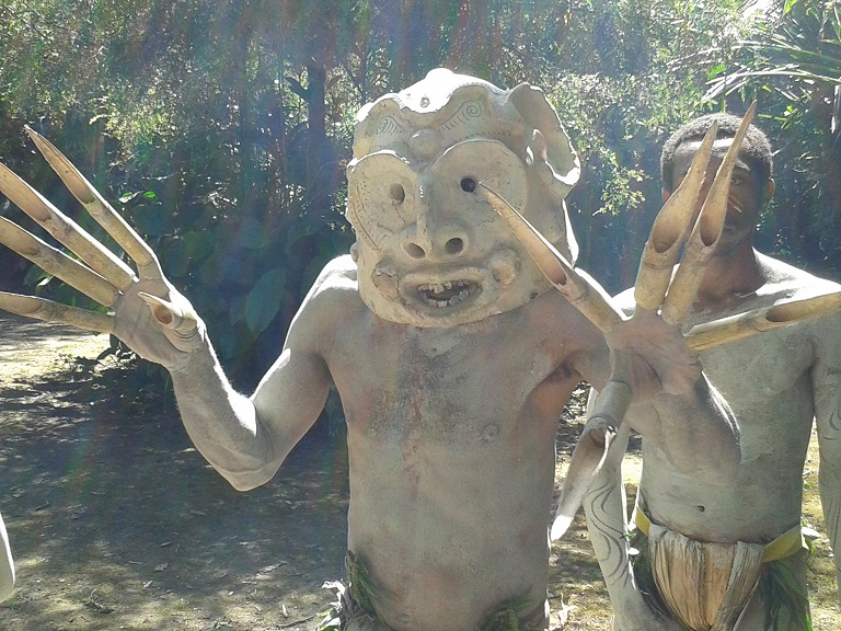 Many tribes have a version of the 'mudmen' fable in which a smaller tribe defeated a rival by pretending to be ghosts and scaring them away
