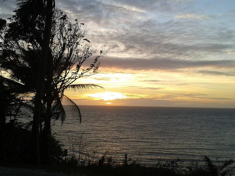 Sunrise over Tufi