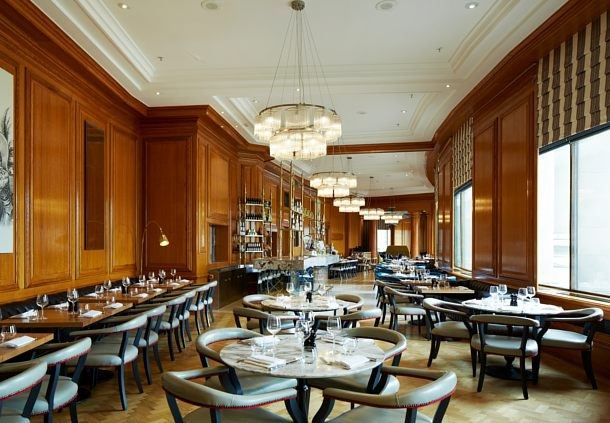 Lunch at Gillray's steakhouse and bar: a London restaurant with a view