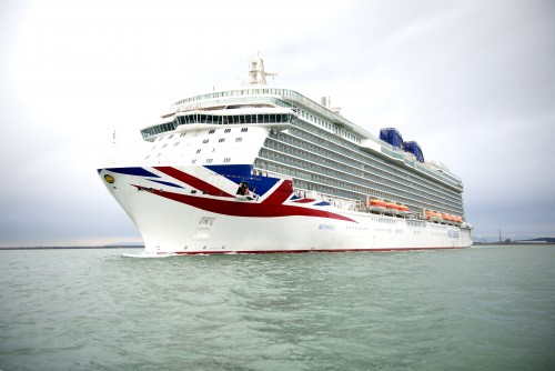 First glimpse of cruise ship P&O Britannia