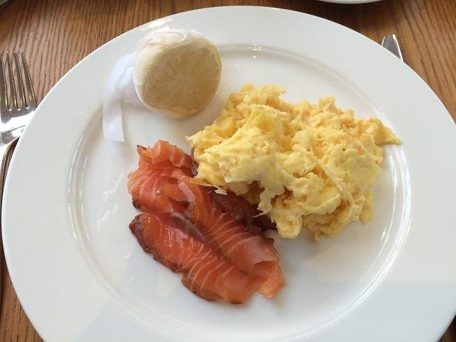 Scrambled eggs and smoked salmon Calcot Manor