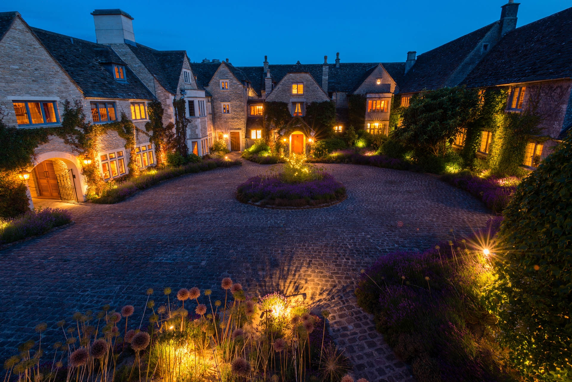 courtyard at Whatley Manor