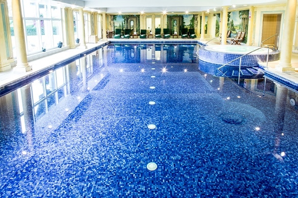 Danesfield House hotel and spa has a large indoor swimming pool