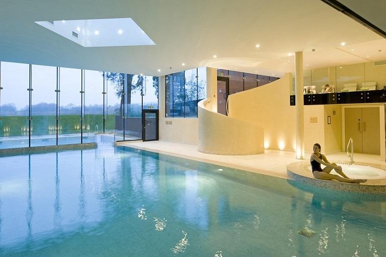 swimming pool at Ockenden Manor hotel