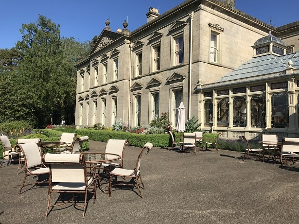 The terrace at Kilworth House hotel