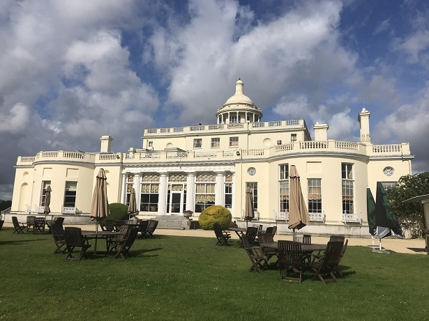 Side view of Stoke Park luxury hotel