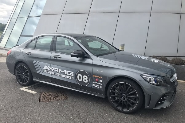 racing car at the Mercedes driving experience