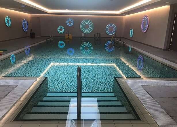 swimming pool at Ragdale Hall