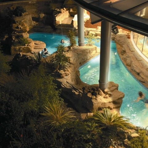 lazy river at Ragdale Hall