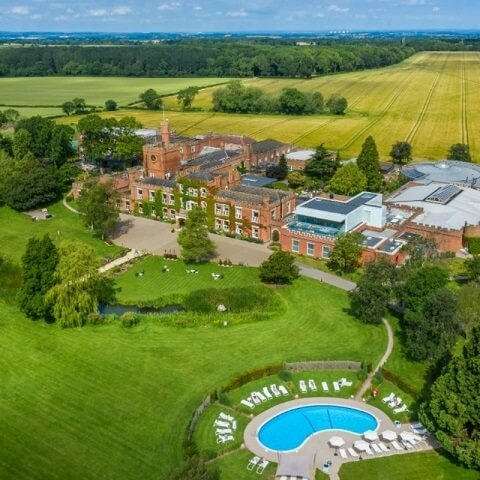 Aerial shot of Ragdale Hall