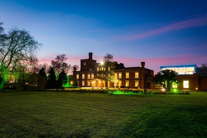 Ragdale Hall at night