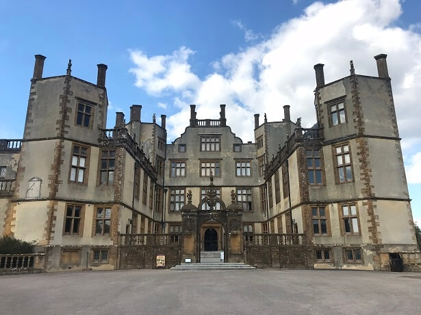 exterior of Sherborne Castle