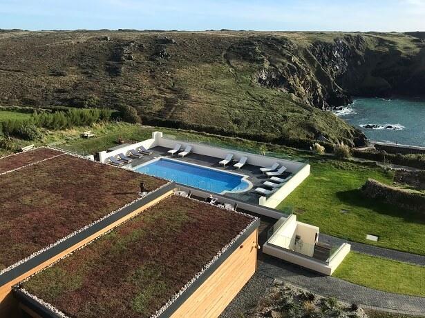 Mullion Cove Cornwall outdoor swimming pool