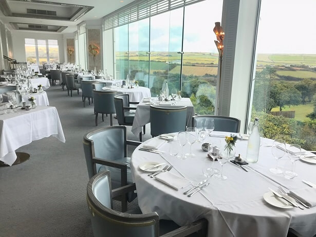 The Trevilder restaurant at Thurlestone hotel
