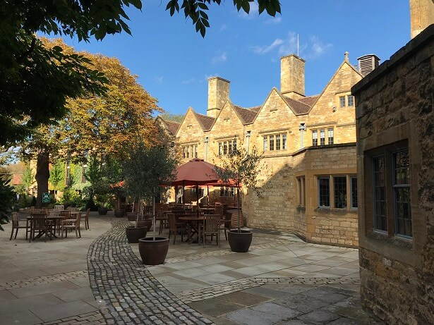 luxury hotels in the cotswolds lygon arms courtyard