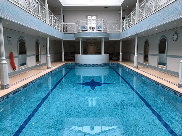 indoor pool at The Lygon Arms