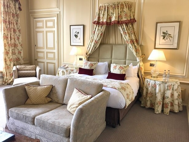 Zoffany bedroom Stapleford Park hotel