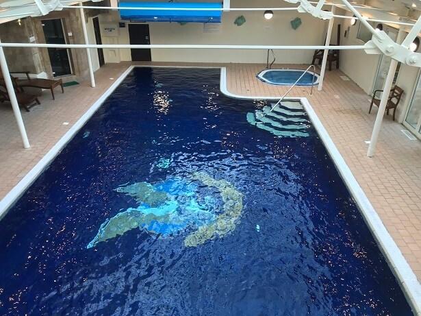 indoor swimming pool at Stapleford Park