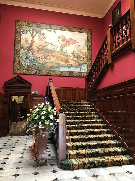 Stapleford Park luxury hotel and spa staircase
