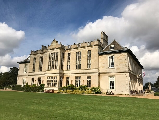 Exterior of Stapleford Park luxury hotel and spa