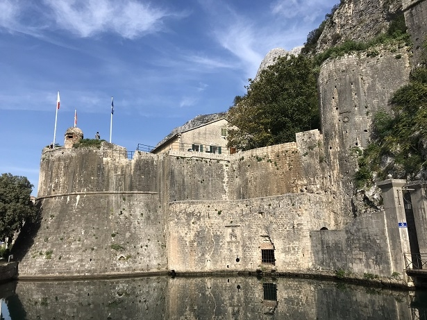 The historic walls which surround the town of Kotor