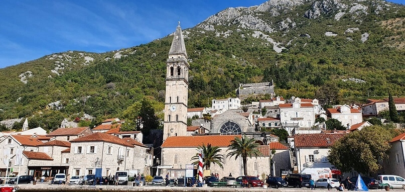 The historic town of Perast in Kotor Bay