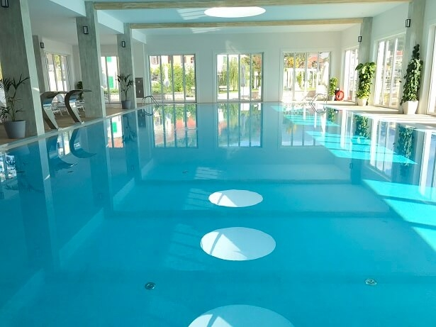 indoor pool at Lazure