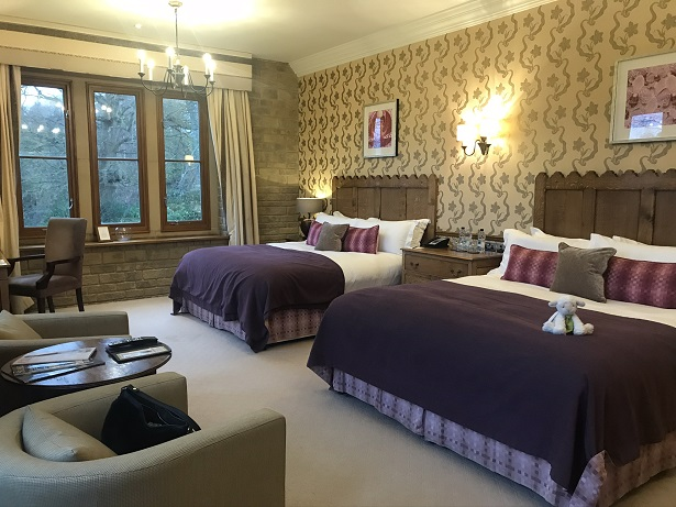 bedroom at South Lodge hotel and spa