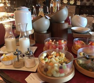 breakfast selection at South Lodge