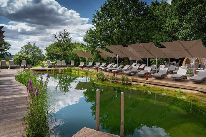 natural pool at South Lodge hotel and spa