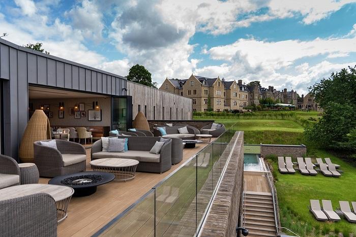 spa terrace at South Lodge Horsham
