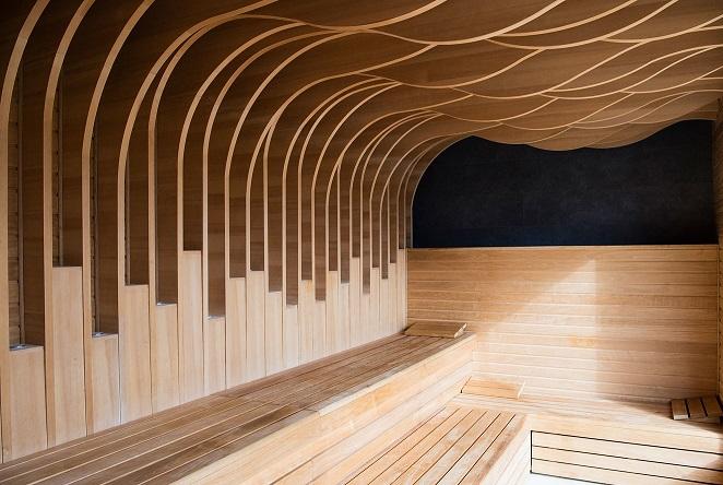 sauna at South Lodge hotel and spa