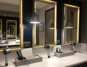 The smart changing rooms at South Lodge's spa