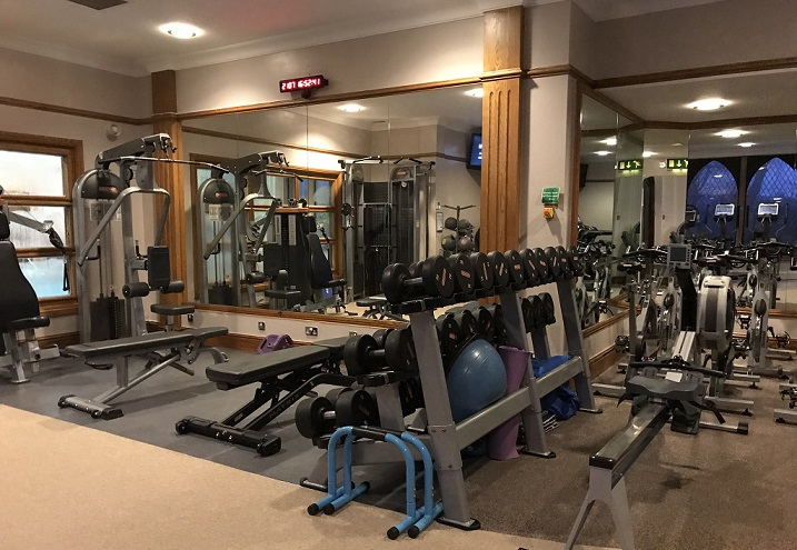gym at New Hall hotel Birmingham