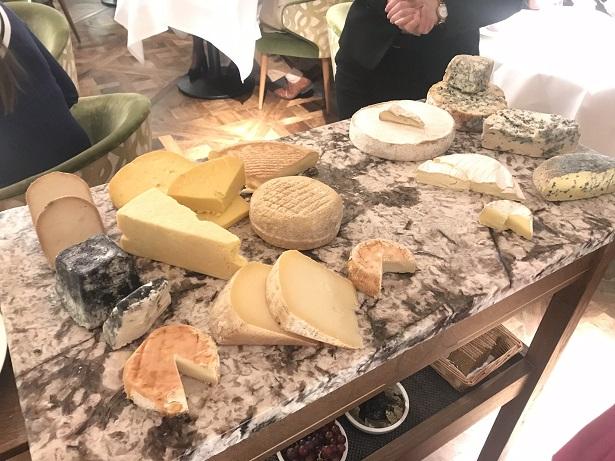 cheese trolley Gravetye Manor
