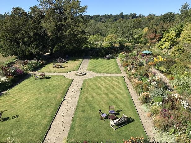 best hotels in west sussex gravetye manor view from Pear bedroom