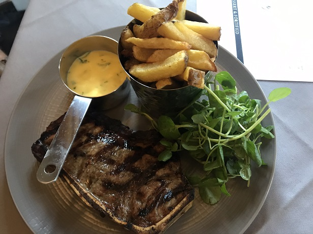 Hare and Hounds near Tetbury review steak