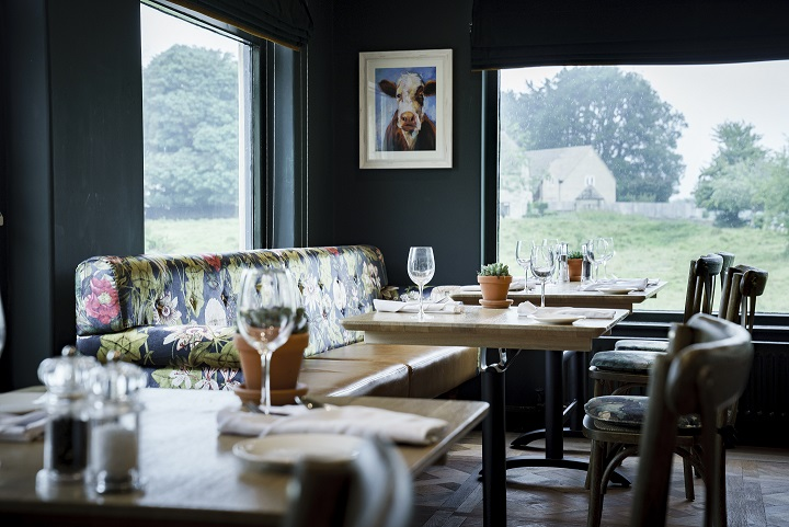 restaurant at the Bear of Rodborough
