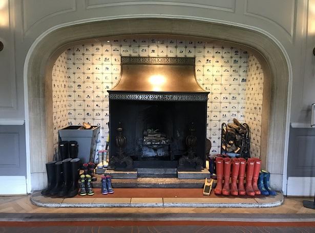 Lainston House hotel entrance hall