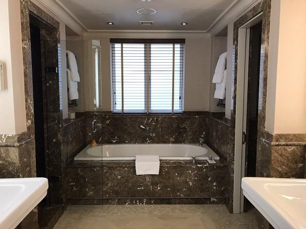 bathroom at The Stafford hotel